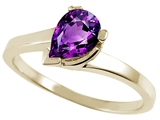 Tommaso Design™ Genuine Amethyst Ring style: 23222