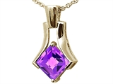 Tommaso Design Genuine Square Amethyst Pendant
