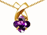 Tommaso Design™ Clover Cut 7mm Genuine Amethyst Pendant