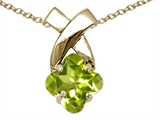 Tommaso Design™ Clover Cut 7mm Genuine Peridot Pendant