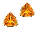 Tommaso Design™ Genuine Triangle Small Citrine Earrings style: 23283