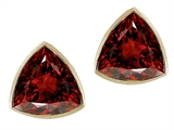 Tommaso Design™ Genuine Trillion Garnet Earrings Studs style: 23297