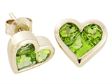 Tommaso Design™ Genuine Invisible Set Peridot Earrings