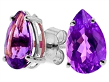Tommaso Design™ Pear Shape Genuine Amethyst Earrings style: 23499