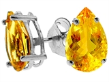 Tommaso Design Genuine Pear Shape Citrine Earrings