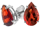 Tommaso Design™ Genuine Pear Shape Garnet Earrings style: 23503