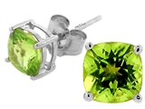 Tommaso Design™ Square 5mm Genuine Peridot Earrings