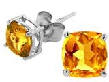 Tommaso Design Square 5mm Genuine Citrine Earrings