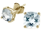 Tommaso Design Square 5mm Genuine Aquamarine Earrings