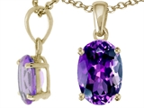 Tommaso Design™ Genuine Oval 8x6mm Amethyst Pendant style: 23571