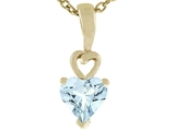 Tommaso Design™ Genuine Heart Shape Aquamarine Pendant