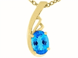 Tommaso Design Genuine Blue Topaz Pendant