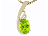 Tommaso Design Genuine Peridot Pendant