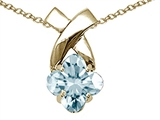 Tommaso Design™ Genuine Clover Cut Aquamarine Pendant