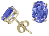 Tommaso Design™ Genuine Tanzanite Earrings style: 23915