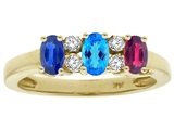 Tommaso Design™ Oval 3 Stone Mothers Ring