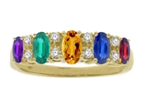 Tommaso Design™ Oval 5 Stone Mothers Ring
