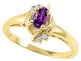 Tommaso Design™ Genuine Amethyst and Diamond Ring style: 23943