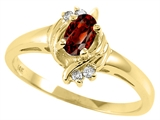 Tommaso Design™ Genuine Garnet and Diamond Ring style: 23946