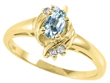 Tommaso Design™ Genuine Aquamarine and Diamond Ring style: 23948