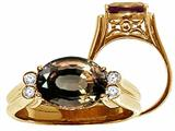Tommaso Design™ Oval 10x8 mm Genuine Smoky Quartz Ring style: 24085