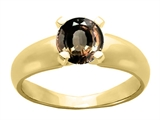 Tommaso Design™ Round 6mm Genuine Smoky Quartz Ring