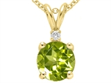 Tommaso Design™ Round 6mm Genuine Peridot Pendant