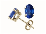 Tommaso Design Oval Genuine Sapphire Stud Earrings