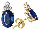Tommaso Design™ Oval 7x5mm Genuine Sapphire s Earrings style: 24275