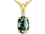 Tommaso Design Genuine Green Sapphire Pendant