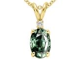 Tommaso Design™ Oval Genuine Green Sapphire Pendant style: 24296