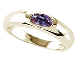 Tommaso Design Oval 6x4mm Simulated Alexandrite Ring