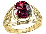 Tommaso Design Oval 10x8 mm Genuine Large Garnet Ring