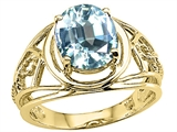 Tommaso Design™ Genuine Large Oval Aquamarine Ring style: 24532