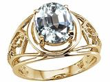 Tommaso Design™ Large Oval Genuine White Topaz Ring style: 24533