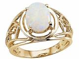 Tommaso Design™ Genuine Large Oval Opal Ring style: 24538