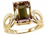 Tommaso Design™ Emerald Cut 10x8 mm Genuine Large Smoky Quartz Ring style: 24549