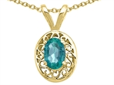 Tommaso Design Oval Genuine Emerald Pendant