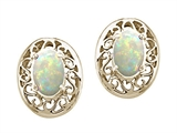 Tommaso Design™ Oval 5x3mm Genuine Opal Earrings