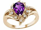 Tommaso Design™ Genuine Amethyst Ring style: 24620