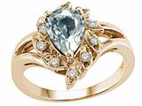Tommaso Design™ Genuine Aquamarine Ring style: 24626