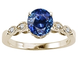 Tommaso Design™ Created 7mm Sapphire Solitaire Engagement Ring