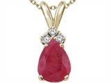 Tommaso Design Genuine Ruby and Diamond Pendant