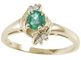 Tommaso Design™ Genuine Emerald and Diamond Ring style: 24973