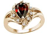 Tommaso Design™ Genuine Garnet Ring style: 25278