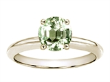 Tommaso Design™ Round 7mm Genuine Green Amethyst Engagement Ring