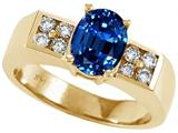 Tommaso Design™ Oval 8x6mm Created Sapphire Ring style: 25434