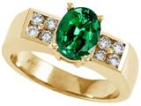 Tommaso Design™ Oval 8x6mm Simulated Emerald And Ring style: 25435