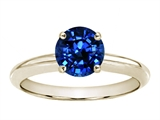 Tommaso Design 7mm Round Lab Created Sapphire Solitaire Engagement Ring