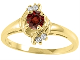 Tommaso Design™ Genuine Garnet and Diamond Ring style: 25661